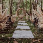 Entrada de boda con pampa